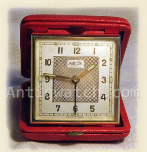 travel alarm clock by Enicar