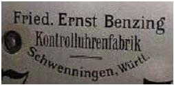 Friedrich Ernst Benzing Kontrolluhrenfabrik
