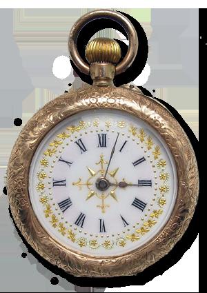 The rare gold timepiece