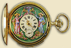 antique watches with enamel dial