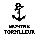 Torpedo Watch marking used on a French Navy chronometer watch, c. 1900-1918