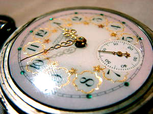 Enamelled pocket watch dial